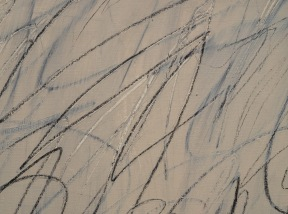 Detail of Nini's Painitng by Cy Twombley (1971)