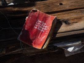 This book is part of one of Purifoy's installations.